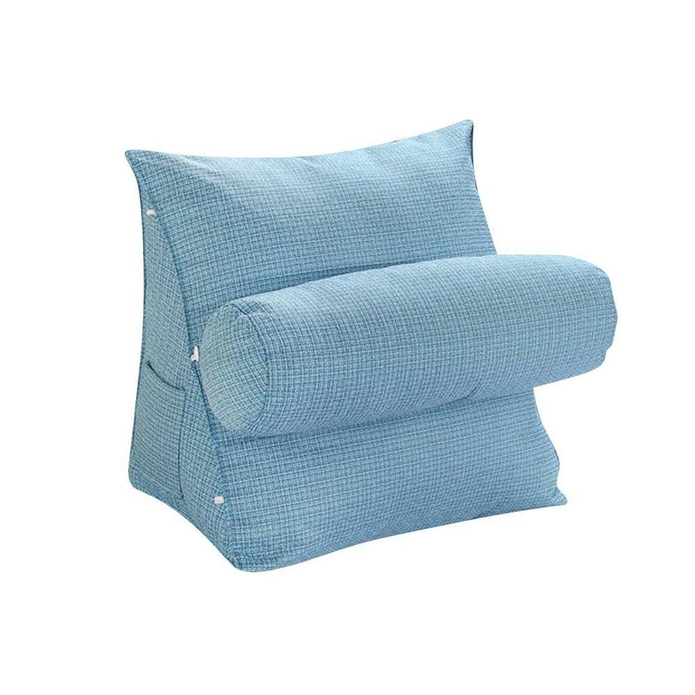 Sofa Bed Waist Cushion Stuffed Throw Sleep Nap Pillow Bolster Support Blue eBay