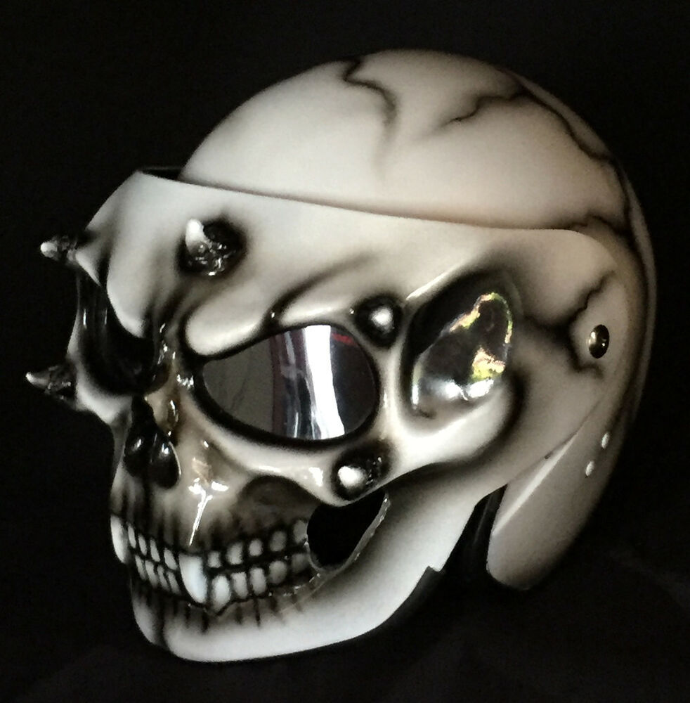 Ghost Rider Quotes About Life And Death: Custom Motorcycle Helmet Skull DOT Skeleton Death Ghost