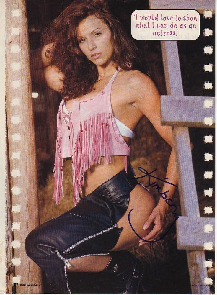 Wwe Wwf Kimberly Page Sexy Autographed Hand Signed 8X10 -9987