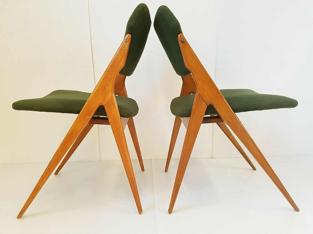 G guermonprez edition godfrid pair of chairs 1950 for 50s chair design