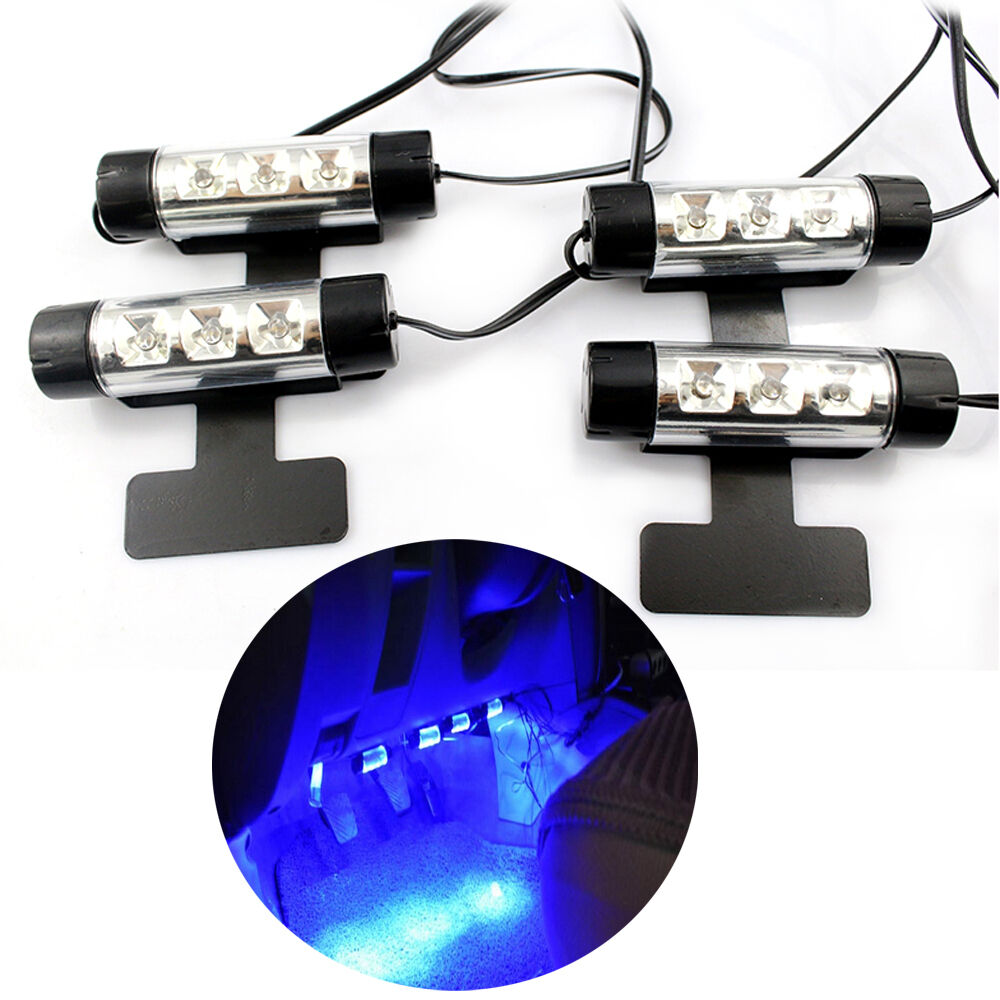4pc Car Suv Charge Interior Accessories Atmosphere Lamp Floor Decorative Light Ebay