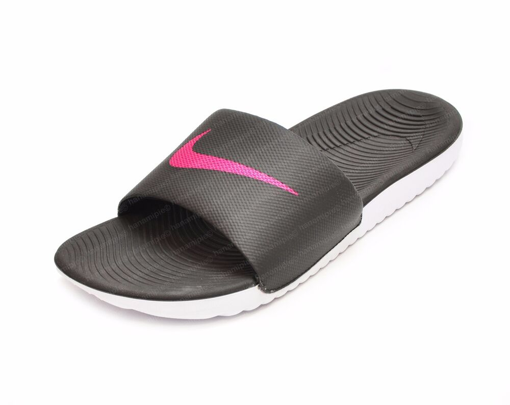 Nike Women S Kawa Slide Sandals Sz 7 8 9 Nwob Black Vivid