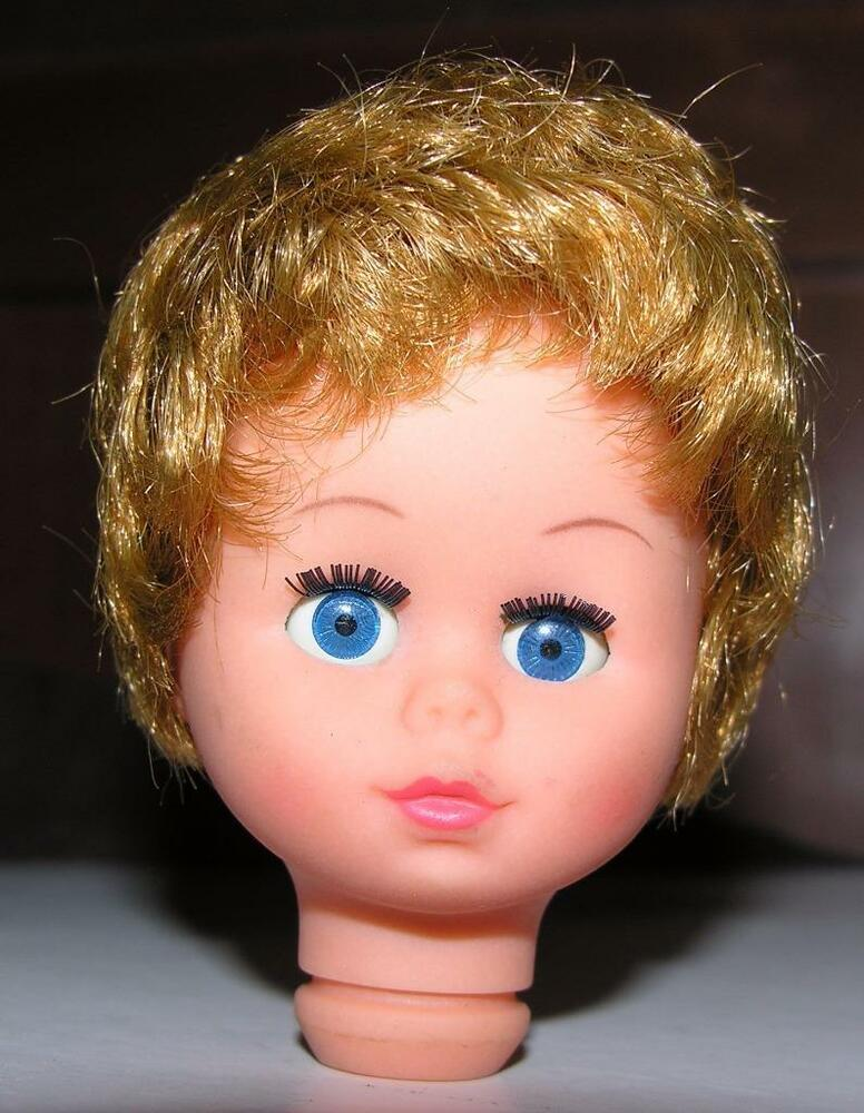 Vtg Doll Making Supplies 1970 S Doll S Head Rooted Pixie