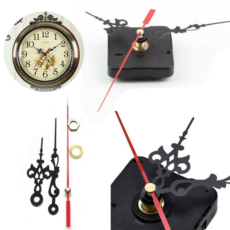 home clock motor for wall clock replacement movement parts black hands tool kit ebay. Black Bedroom Furniture Sets. Home Design Ideas