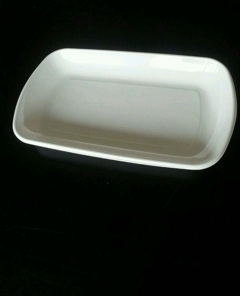 2x white plastic disposible tray plate 36 x21cm for for Plastic canape dishes