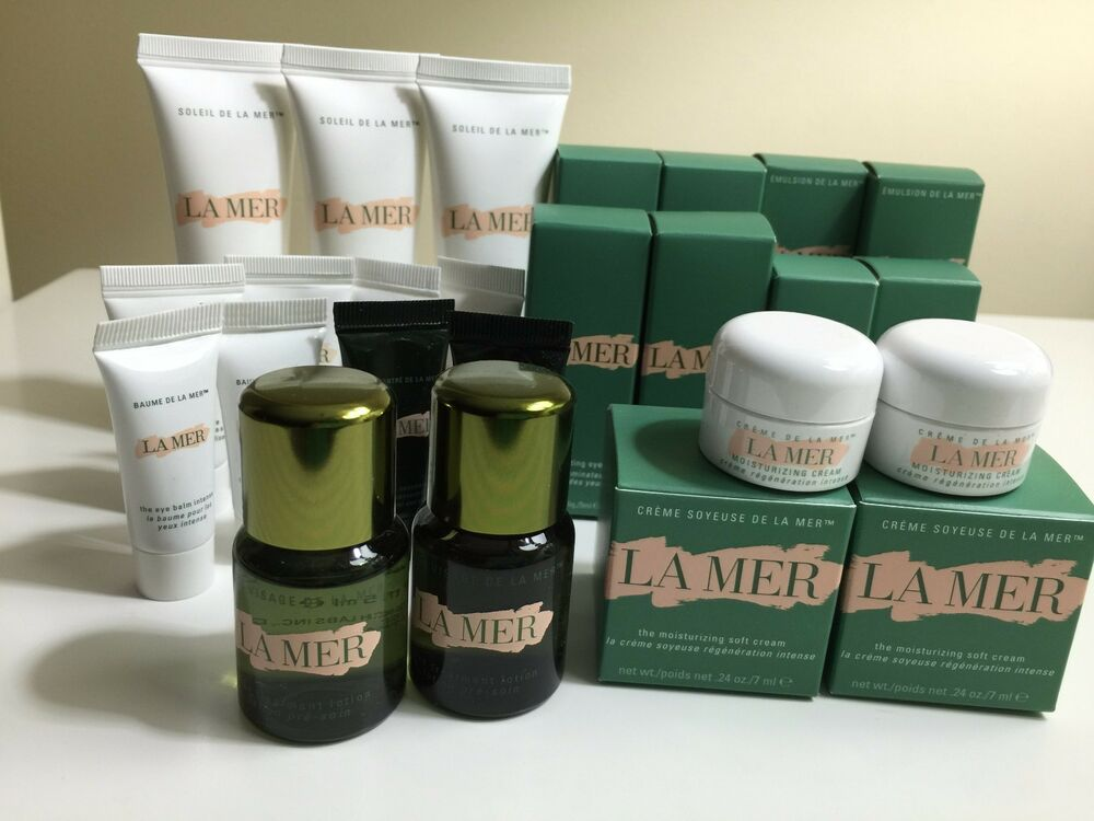 La mer skincare sample cleanser lotion serum eye balm eye for La cabine skincare