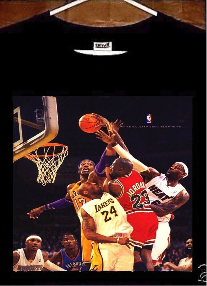 Michael Jordan T shirt; Michael Jordan vs Lebron James vs ...