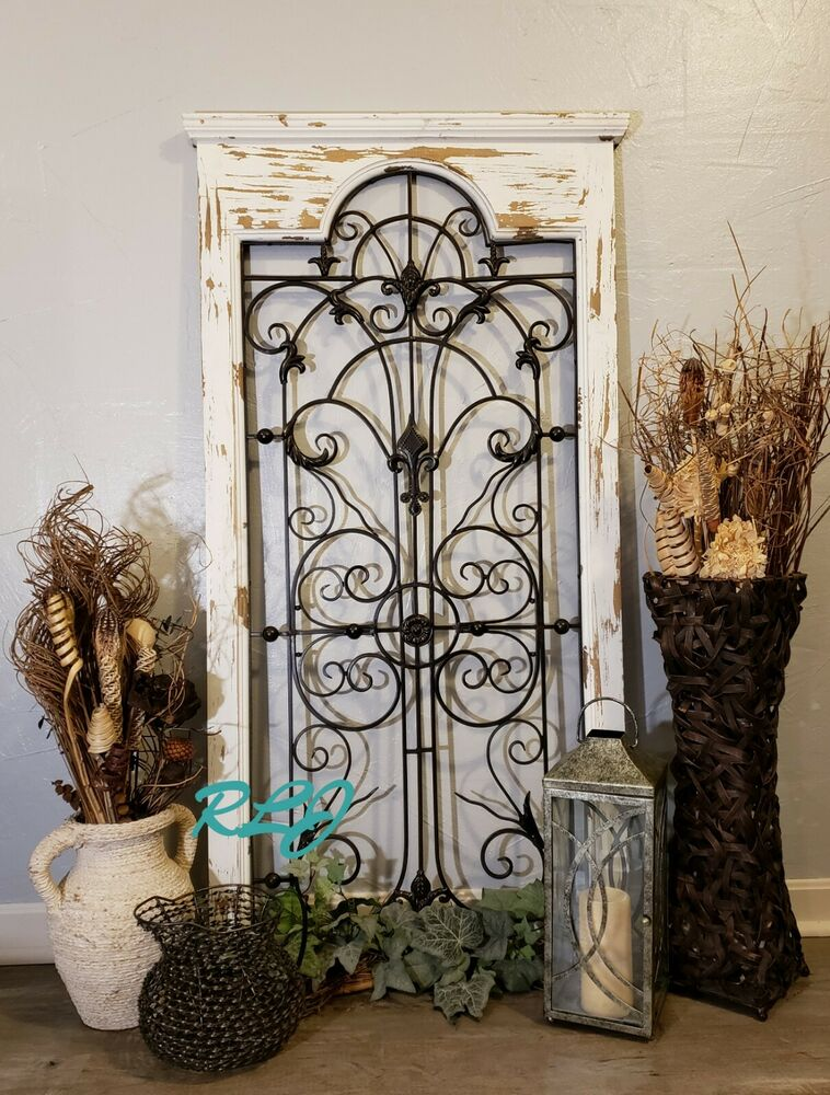 Shabby Distressed Rustic Vintage Garden Gate Arch Window