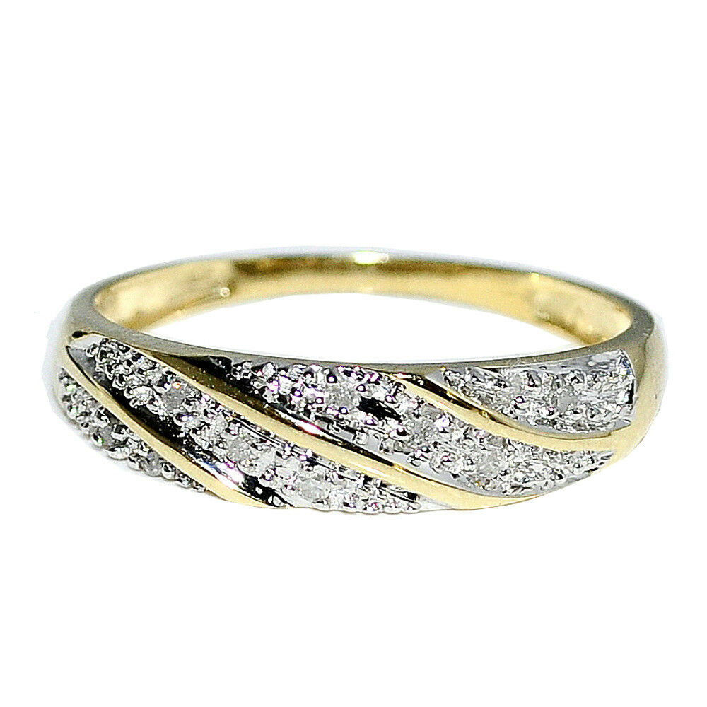 wedding band mens ring real diamonds in 10k yellow. Black Bedroom Furniture Sets. Home Design Ideas