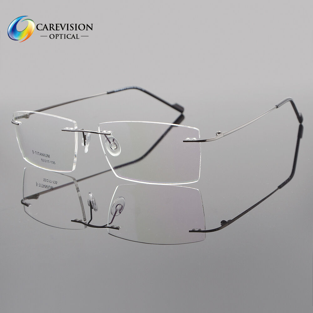 0a38c6e34b Details about Mens Rimless β Titanium Eyeglass Frames Clear Lens Titanium  Optical Glasses Rx