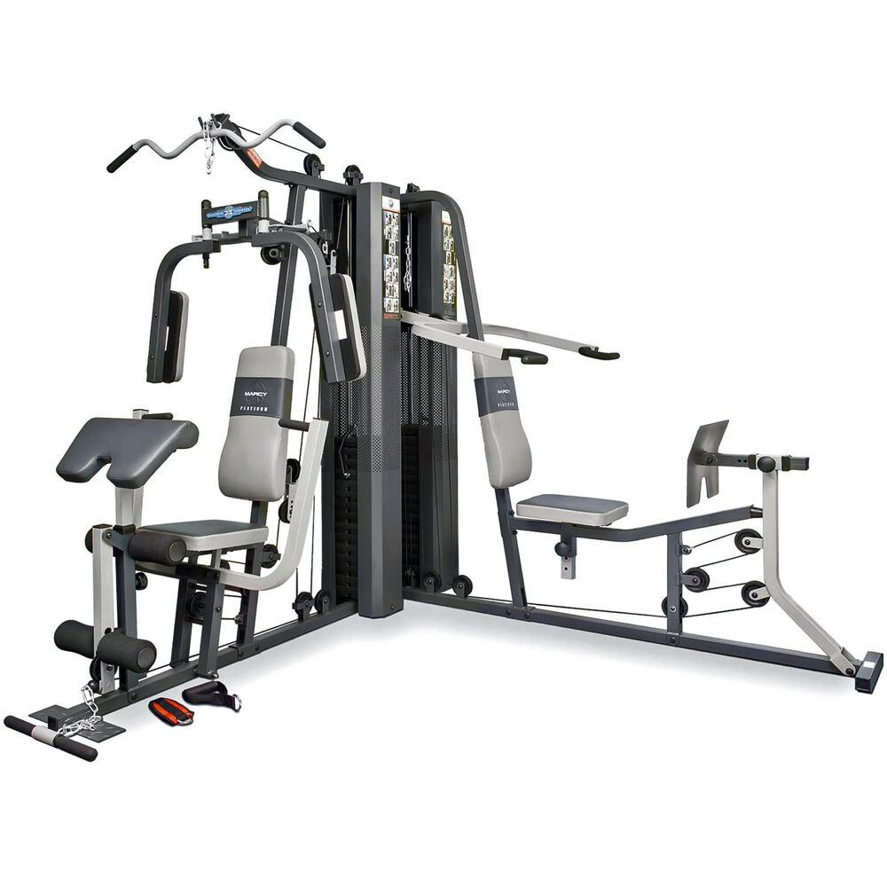 Marcy gs dual stack home multi gym leg press shoulder