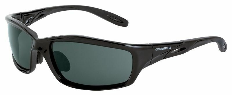 0b4252d15b6 Details about Crossfire Infinity Safety Glasses with Crystal Black Frame  and Smoke Lens