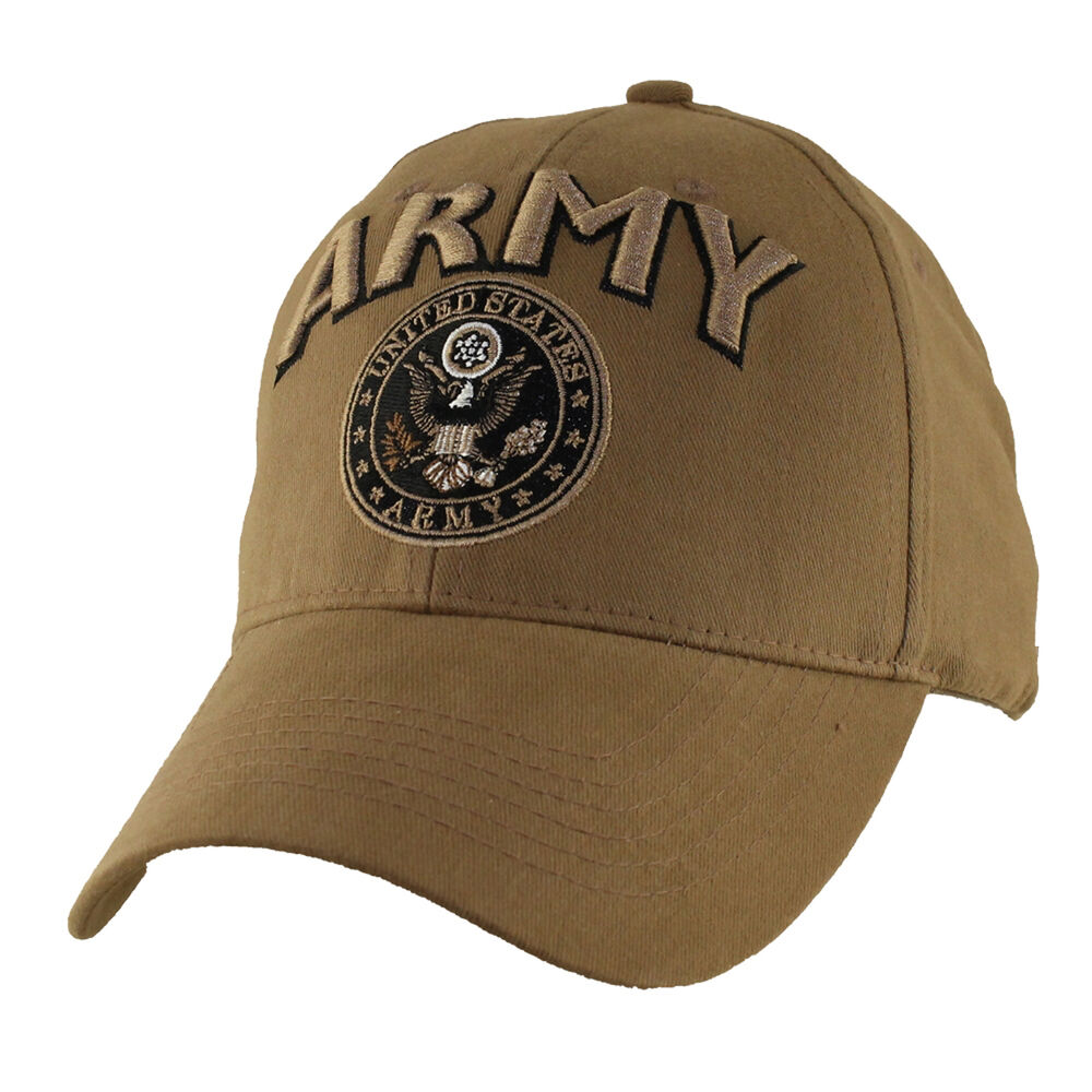 48613959ecb Details about U.S. ARMY WITH ARMY SEAL INSIGNIA-Officially Licensed  Military Baseball Cap Hat