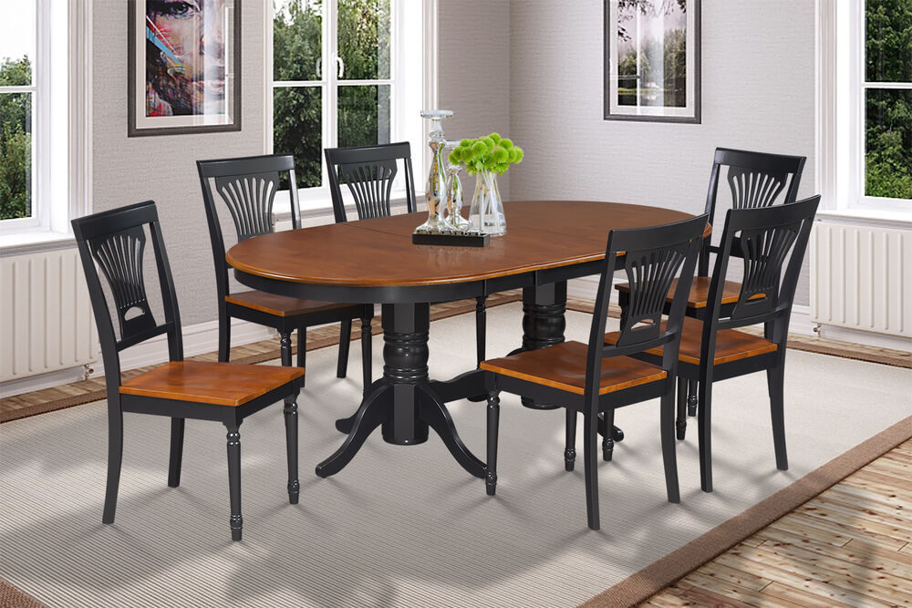42 x78 oval dinette dining room table set with wood seat for Cherry wood dining room set