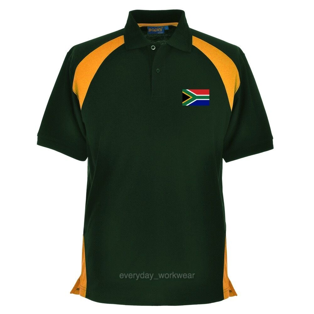 South Africa African Embroidered Polo Shirt Clothing Rugby