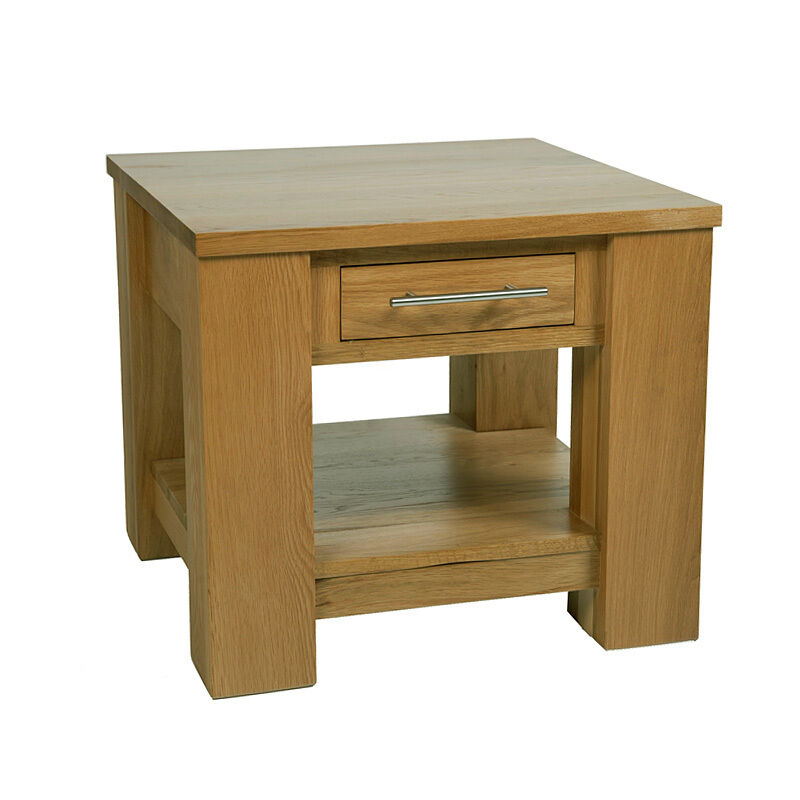 Solid Oak Lamp Table Small Solid Oak Coffee End Table With Drawer Furniture Ebay