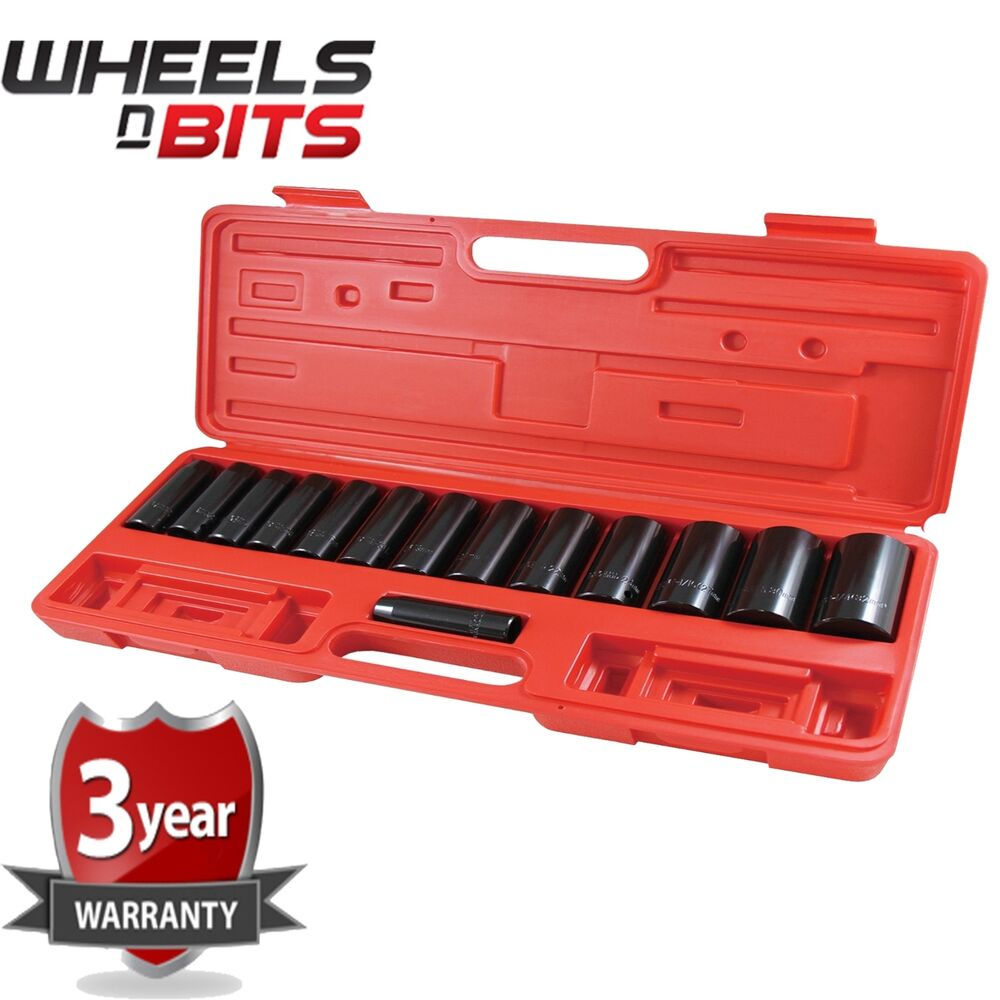 Deep impact socket set piece in drive to mm