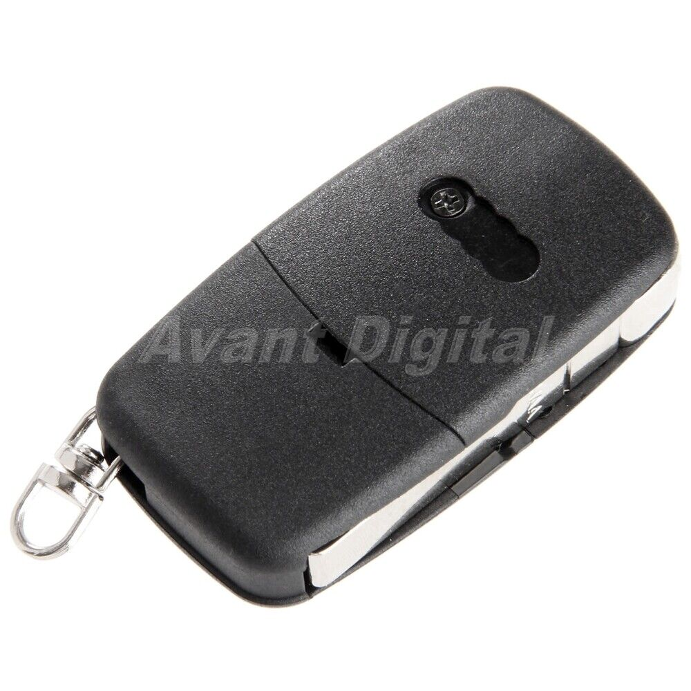Black 3 Button Flip Remote Key Fob Blade Case Shell For