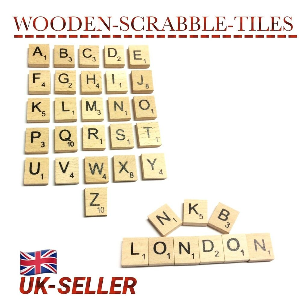 100 200 mix wooden scrabble tiles letters craft alphabet board game