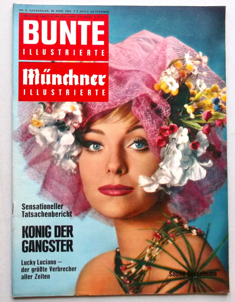 kult zeitschrift bunte nr 9 von 1962 cover sabine sesselmann fall lindbergh ebay. Black Bedroom Furniture Sets. Home Design Ideas