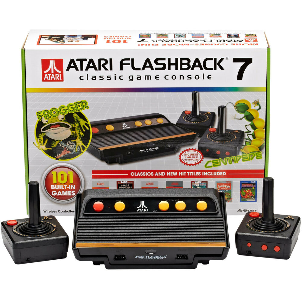 Atari 2600 flashback 7 console 2 wireless joysticks 101 - Atari flashback classic game console game list ...
