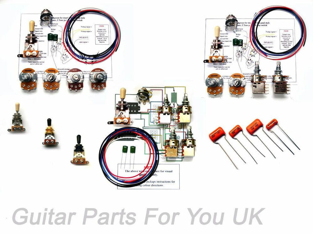 build your own 250k custom les paul wiring kit push pull pots build your own 250k custom les paul wiring kit push pull pots full size pots