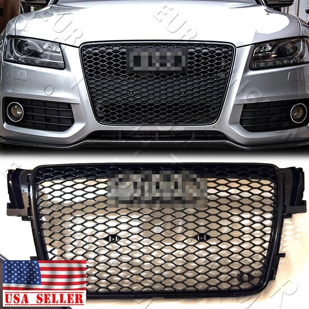 for 07 12 audi a5 s5 b8 rs5 style euro honeycomb hex mesh. Black Bedroom Furniture Sets. Home Design Ideas