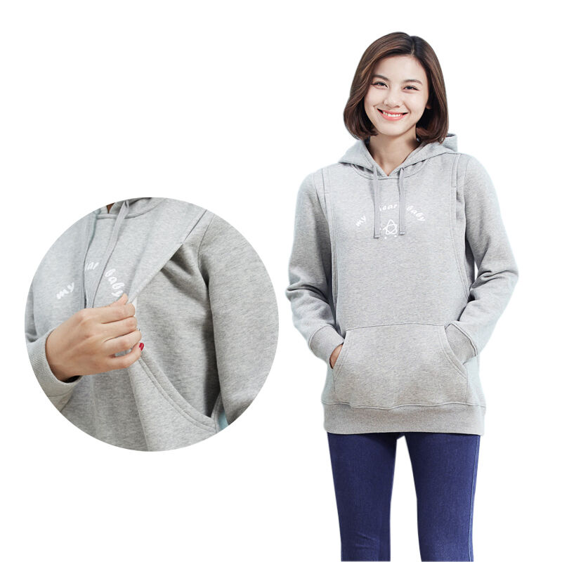 188486dd6 Long Sleeve Winter Maternity Clothes Breastfeeding Nursing Tops With ...