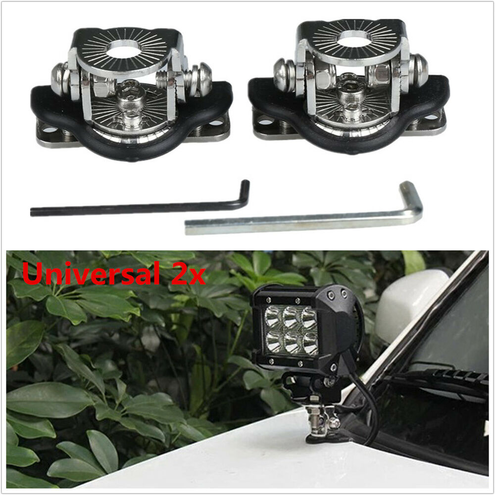 Universal 2x A Pillar Hood Led Work Light Bar Mount