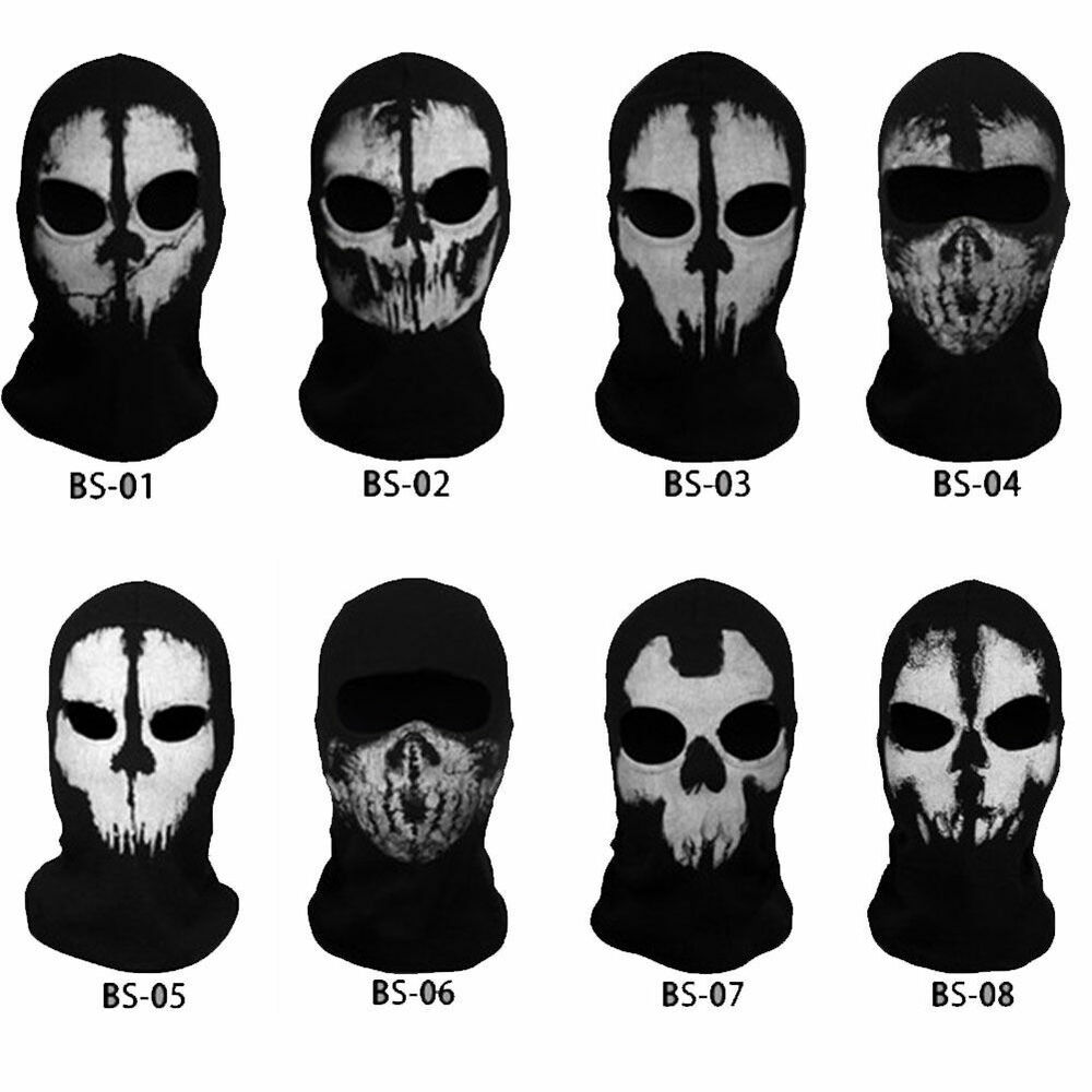 NEW Call of Duty 10 Ghost Skull Face Mask Cosplay Balaclava ...