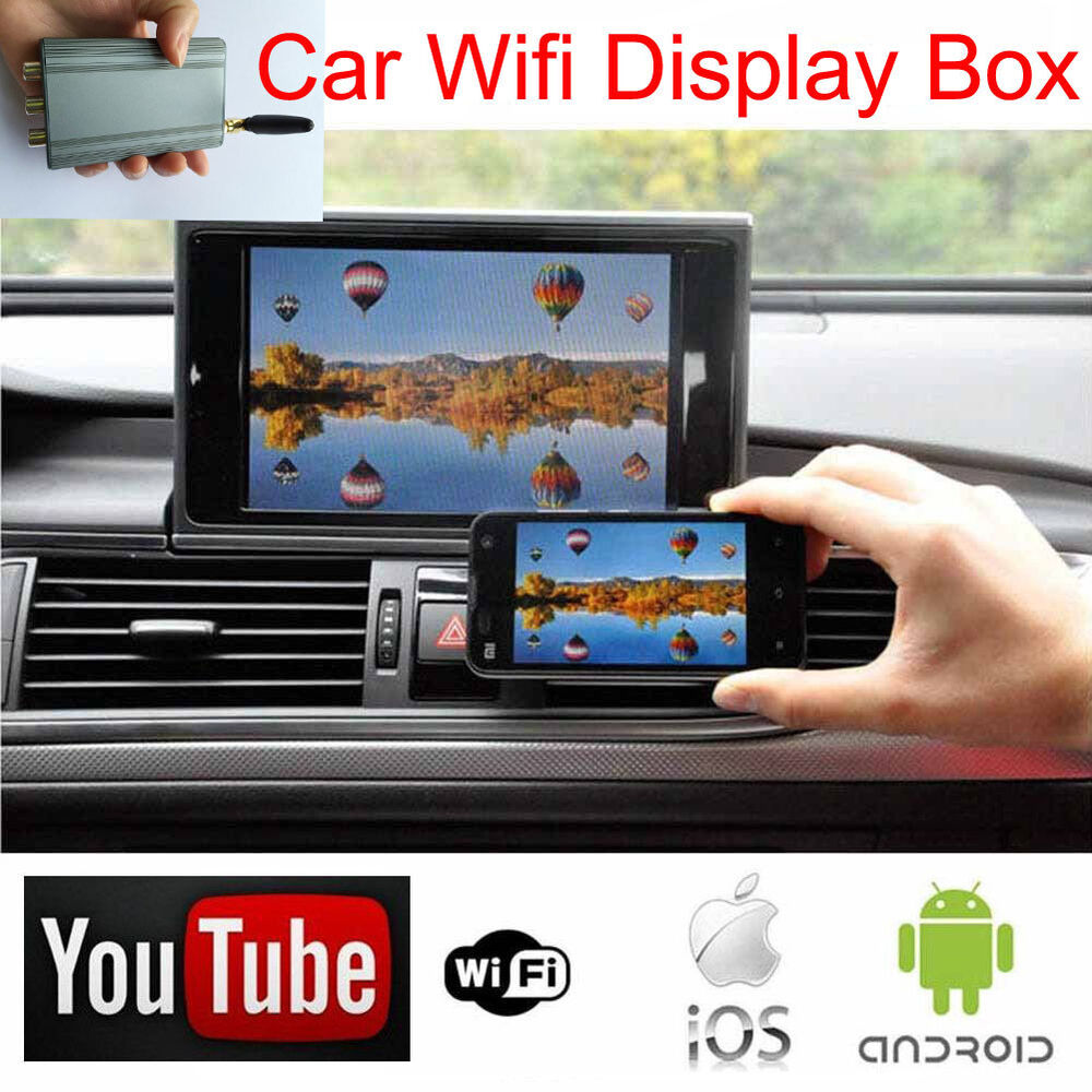 Ios iphone android link car wifi display airplay miracast for Ebay motors app for android