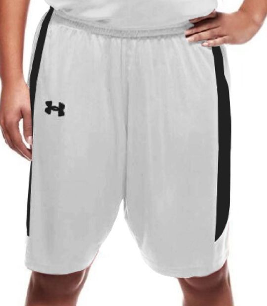 Under armour womens next level basketball shorts white for Womens fishing shorts