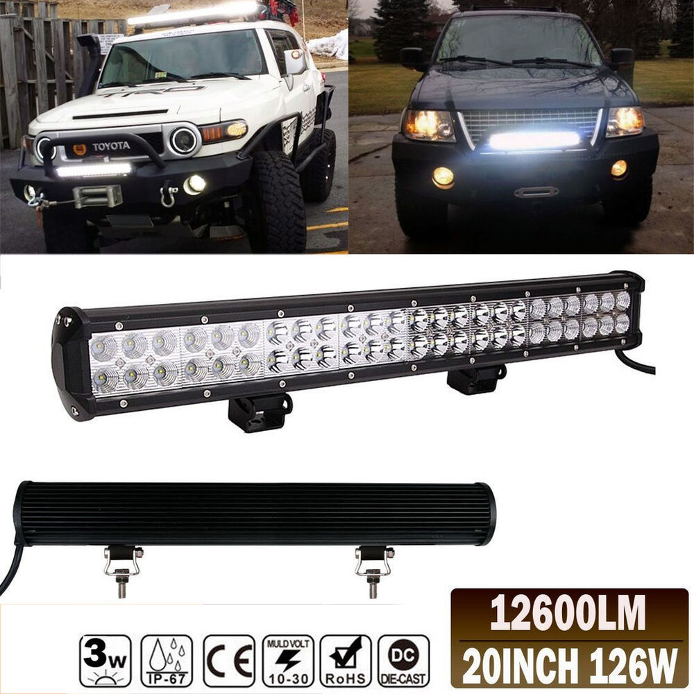 "High Power 200w 20 Inch Jeep Accessories Led Light Bar For: 20"" 126W High Power LED Offroad Light Bar Mount On Roof"