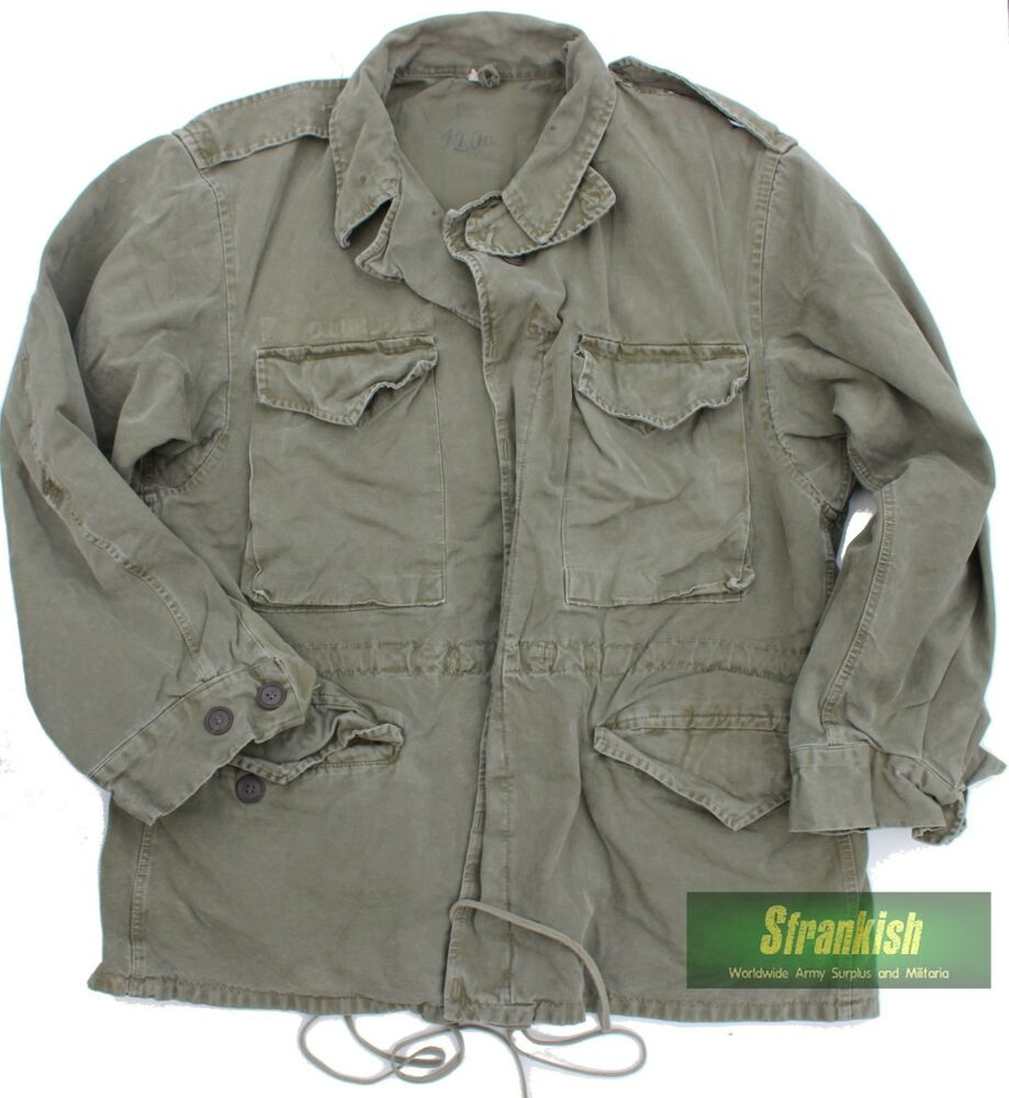 Ww2 Us Army Norwegian M43 Combat Jacket In Olive Green 38 40 Inch Chest Ebay