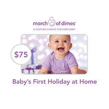 March of Dimes $75 Baby's First Holiday at Home Symbolic Charitable Donation