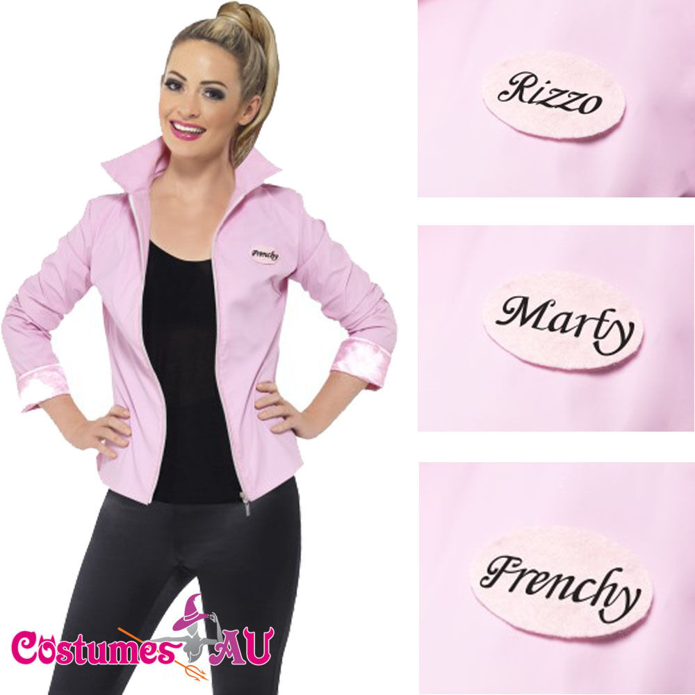 deluxe 1950s grease pink lady jacket ladies badges 50s