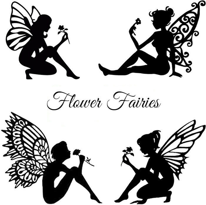 This is a graphic of Ridiculous Fairy Silhouette Printable