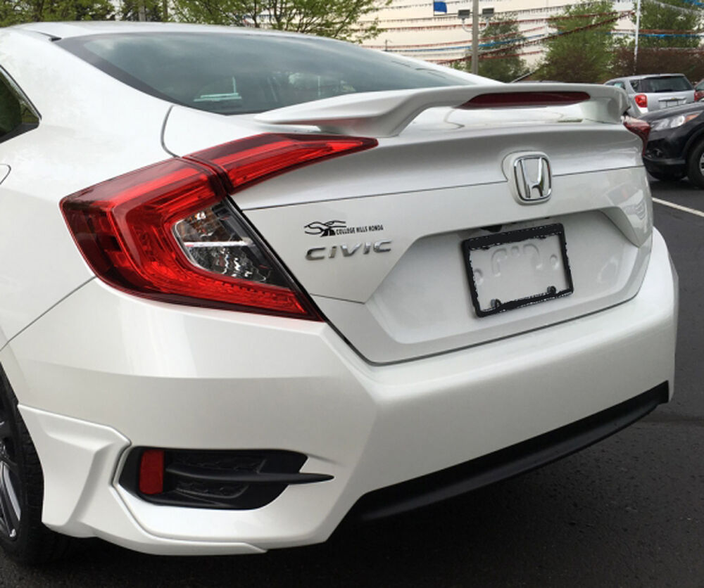 painted spoiler   honda civic  door sedan factory style   ebay