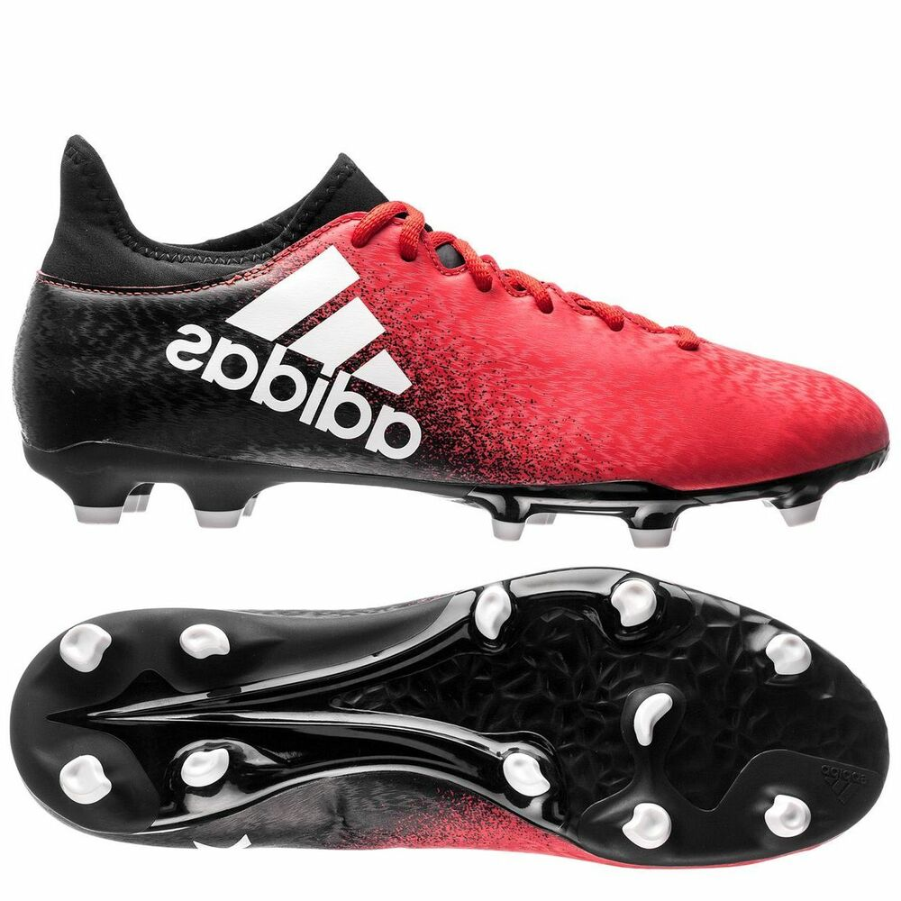 adidas X 16.3 FG 2017 Soccer Shoes Cleats New Red / Black ... - photo#6