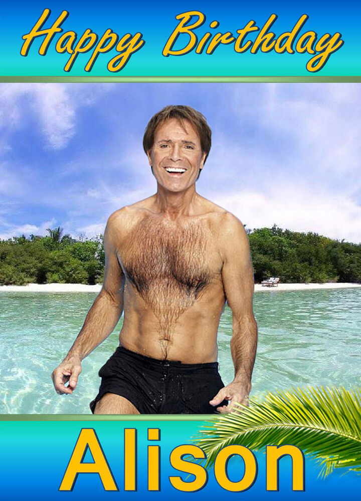 Cliff Richard Birthday Card Any Name Age Relative Personalised A5