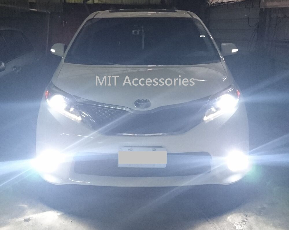Toyota Sienna 2011 2017 H11 Led Lights Turbo Super Light