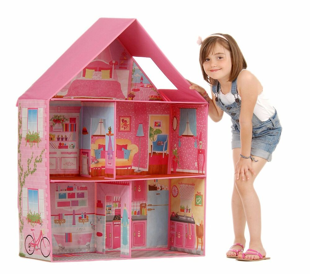 Barbie Dollhouse Girl Play Room Set Pink Modern Doll Dream