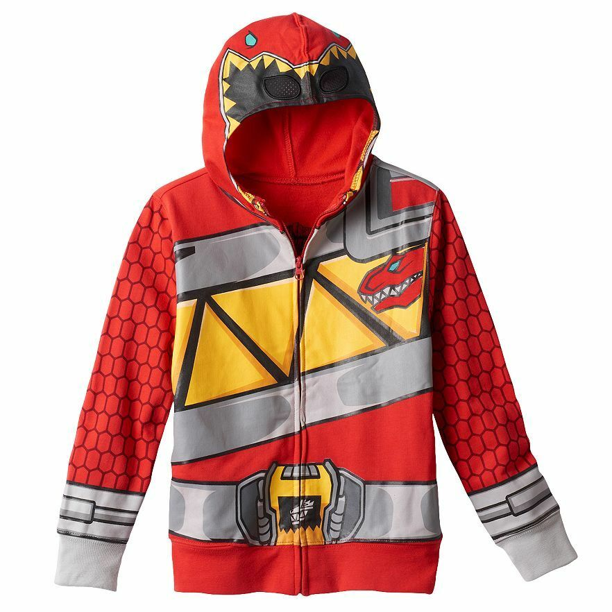 Power Rangers Dino Charge Hoodie Red Ranger Size S 4 Nwt
