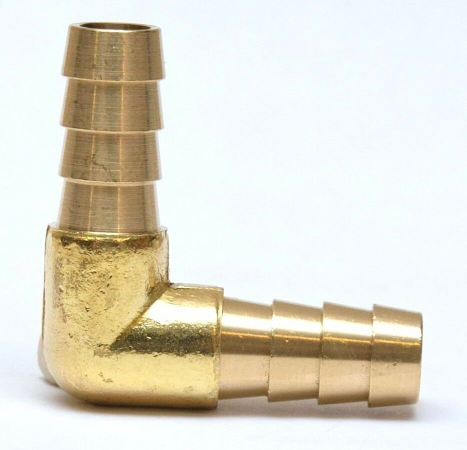 Hose barb id elbow degree brass fitting fuel air