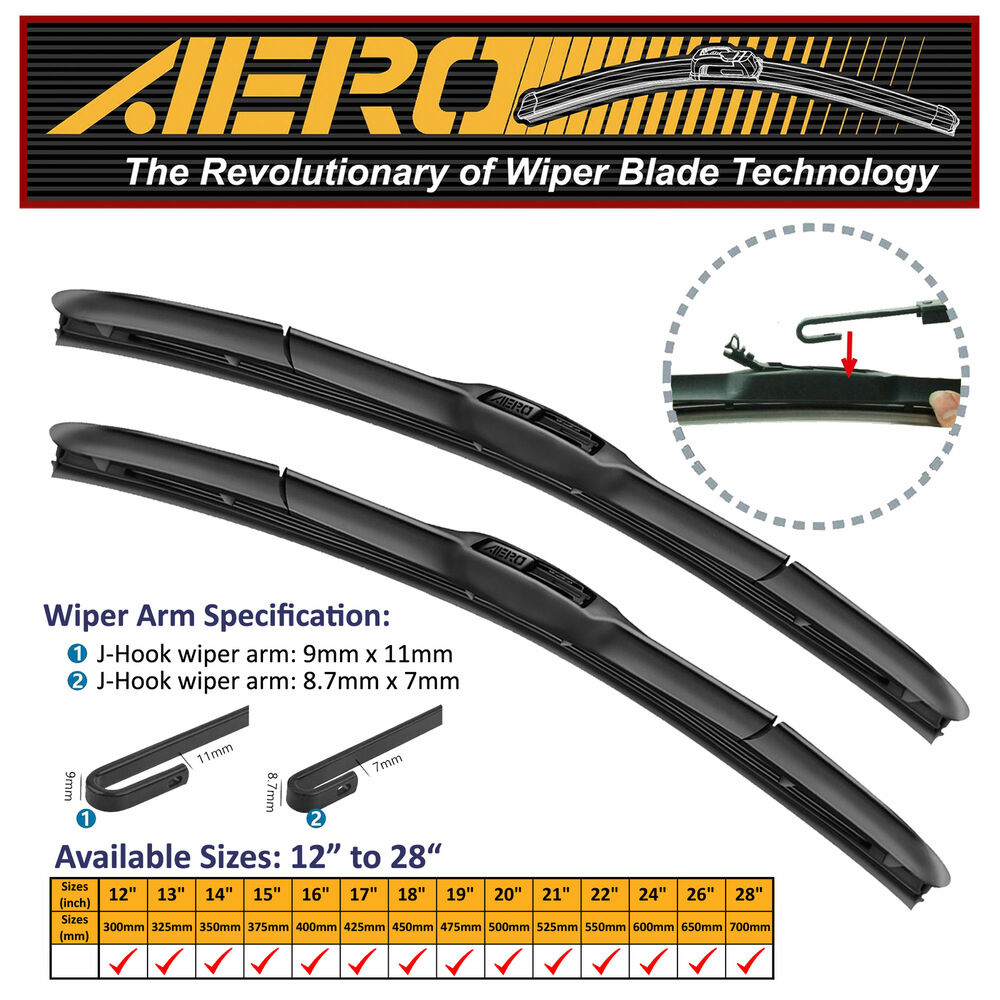 Details About Aero Hybrid 26 16 Oem Quality Windshield Wiper Blades Set Of 2