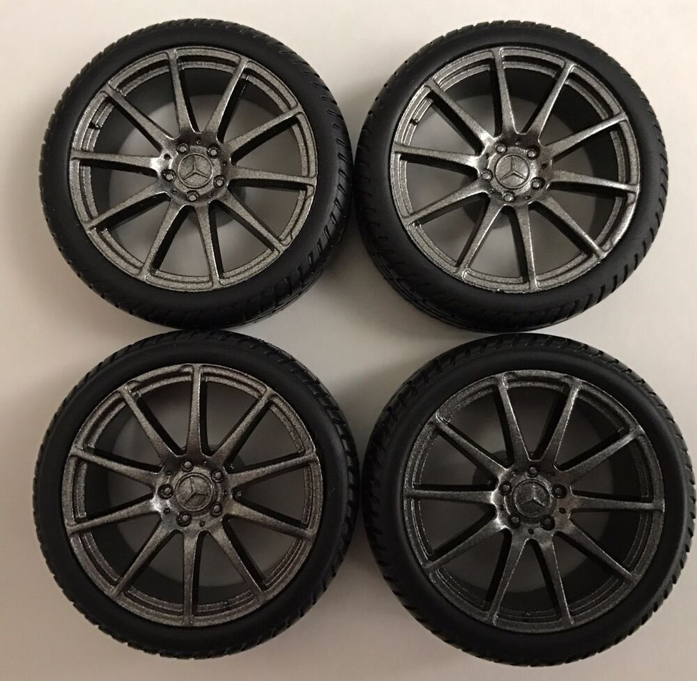 set of 4 20 amg mercedes wheels and low profile 1 18 tires repairing replace ebay. Black Bedroom Furniture Sets. Home Design Ideas