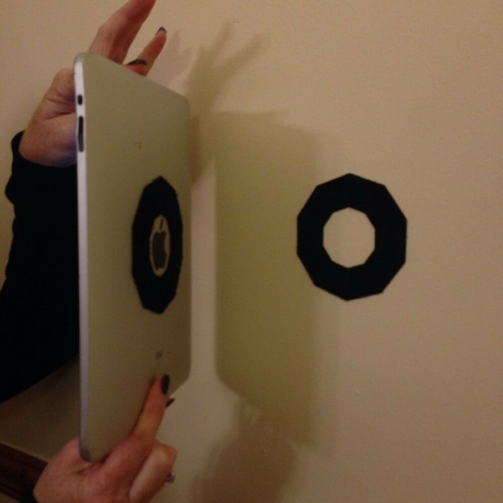 octo velcrose ipad wall mount tablet mounting sticky system like hedgie