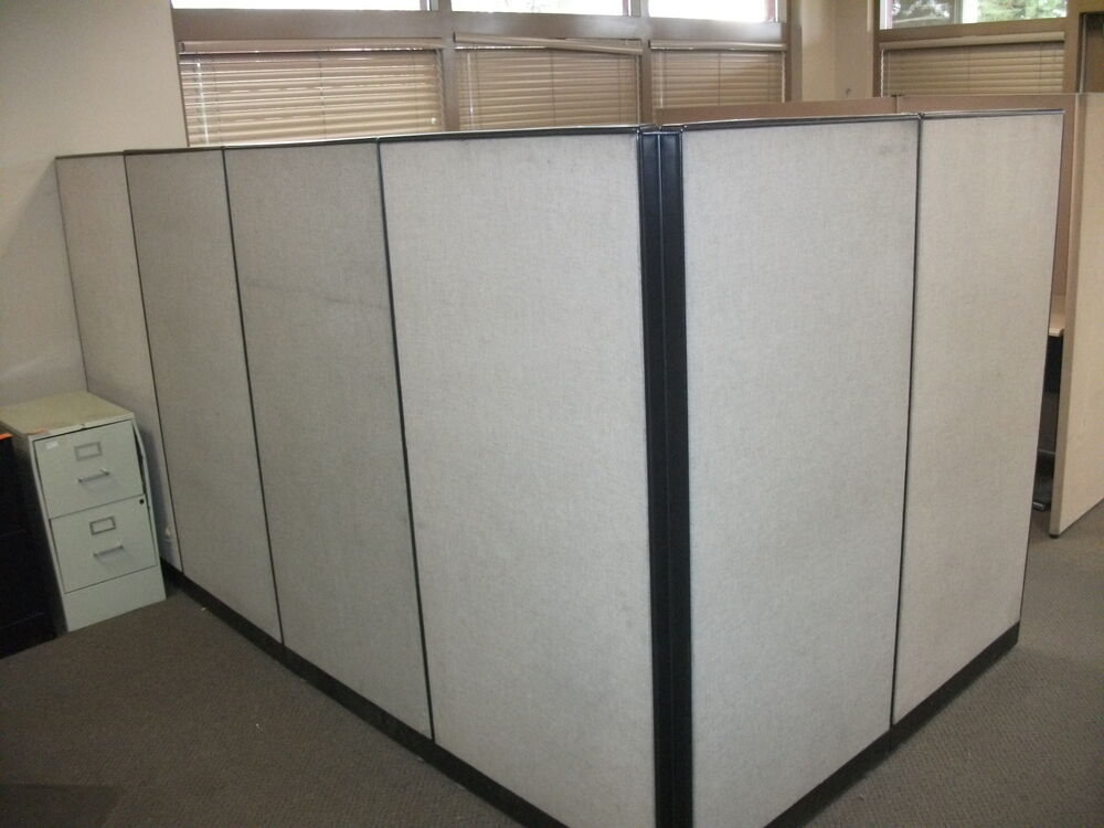 Office cubicle partitions wall divider modular used ebay Office partition walls with doors