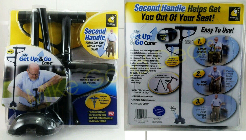 My Get Up And Go Cane Second Handle Helps You Get Out Of