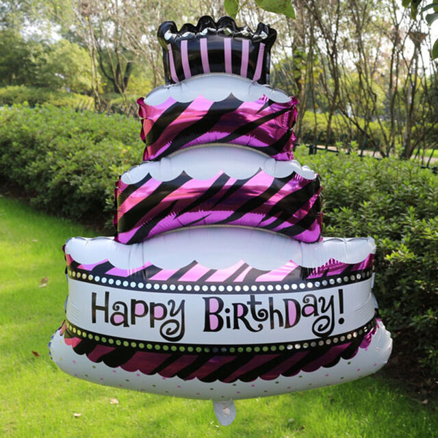 Details About FOIL BALLOONS HAPPY BIRTHDAYPLAIN ROUND 1618CUPCAKEBIG CAKETAKE A LOOK